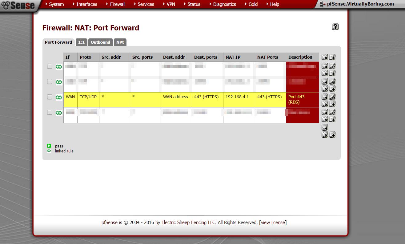 WAP - pfSense NAT Example